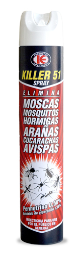 Killer spray fulminante. Insecticida rápido. Spray 750 ml